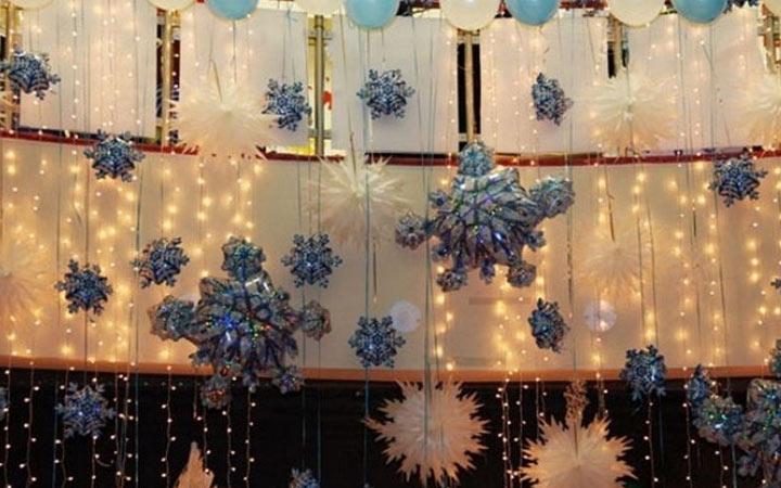 Декор комнаты на Новый Год 2020 воздушными шариками
