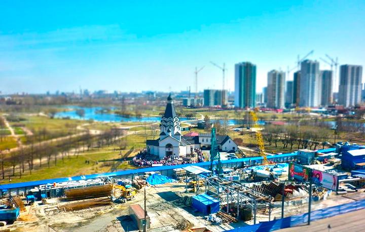 Строительство ст. метро «Проспект Славы»
