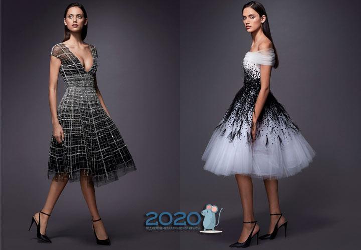 Модные коктейльные платья зимы 2019-2020