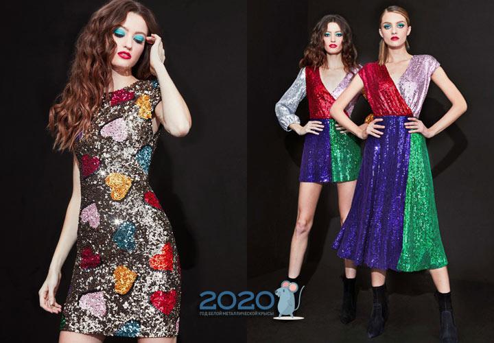 Модные блестящие платья на Новый 2020 год