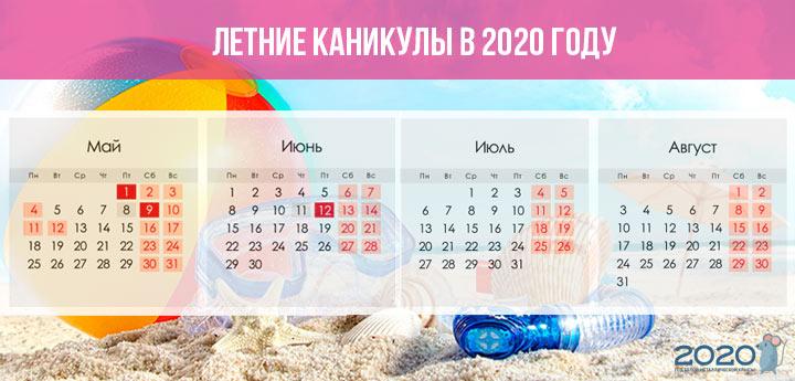 Летние каникулы 2020 года