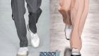 Белые мужские туфли осень-зима 2019-2020
