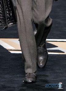 Мужские туфли серого цвета осень-зима 2019-2020
