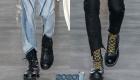 Высокие ботинки со шнуровкой мода 2019-2020 года