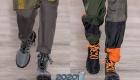 Высокие ботинки с яркой шнуровкой мода 2019-2020 года