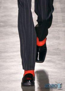 Квадратный носок - обувь осень-зима 2019-2020