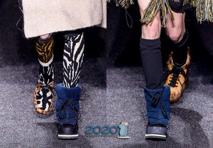 Эпатажная мужская обувь осень-зима 2019-2020