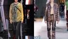 Анималистические принты осень-зима 2019-2020 мужская мода