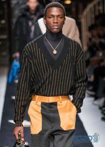 Полосатый свитер осень-зима 2019-2020