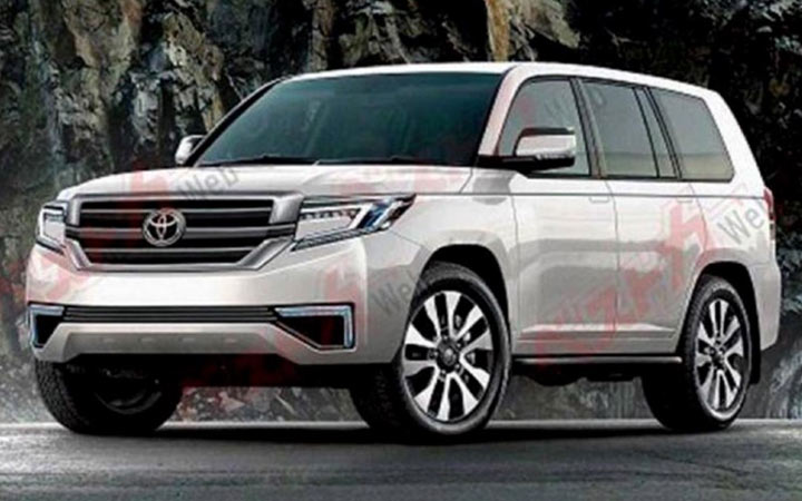 Экстерьер Toyota Land Cruiser 2020 года