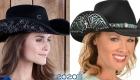 Модная ковбойская шляпа с декором