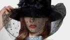Модная шляпа с вуалью зима 2019-2020