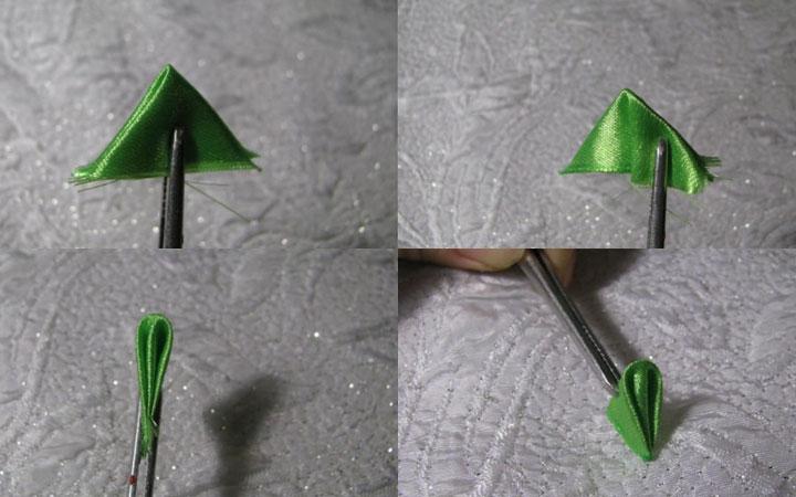Елочка канзаши пошаговая инструкция шаг 3