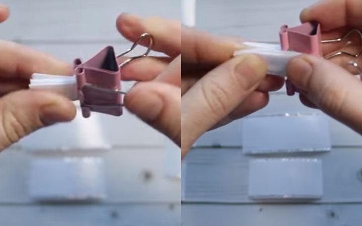 Снежинка канзаши пошаговая инструкция этап 3