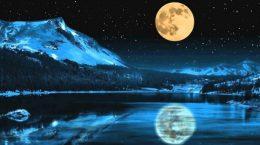 луна над морем