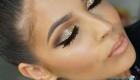 Модный блестящий новогодний макияж 2020 года
