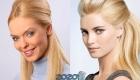 Нюдовый макияж для блондинки на Новый 2020 год