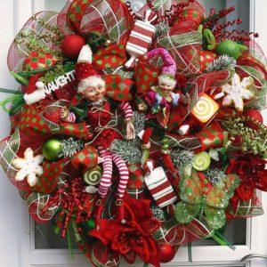 Идеи рождественских венков своими руками на 2020 год