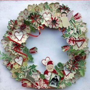 Бумажный рождественский венок