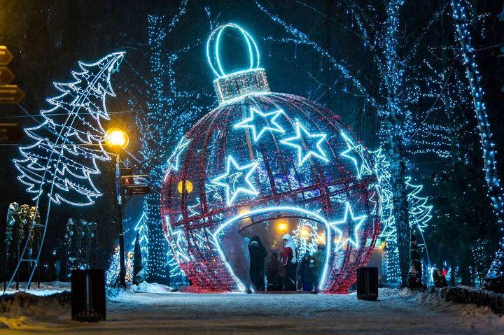 Парки Москвы на Новый год