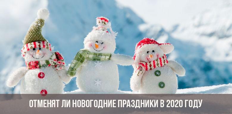 Отменят ли новогодние праздники в 2020 году