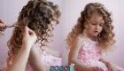 Как красиво уложить девочке на новый 2020 год длинные волосы