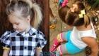Простые хвостики для девочек на Новый Год 2020