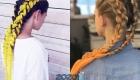 Стильные косы с канекалоном стильный образ для девочки в 2020 году