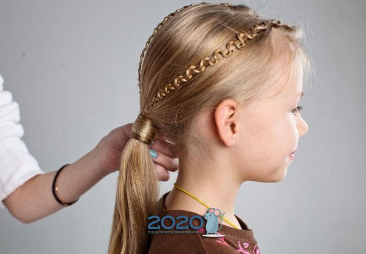 Модные варианты причесок для девочки к Новому Году 2020