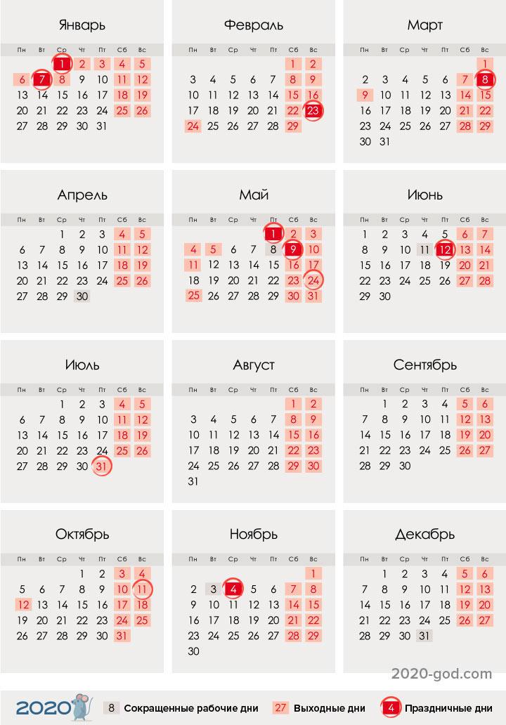 Календарь праздников 2020 года для Республики Башкортостан
