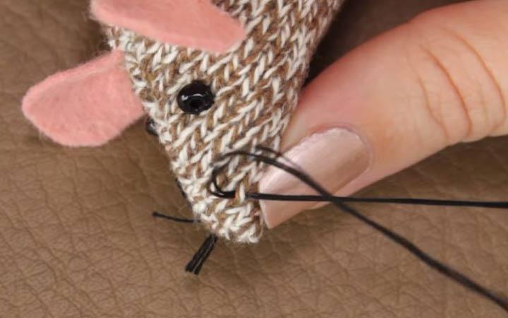 Мышка из трикотажа своими руками шаг 10 делаем усики