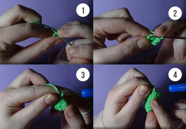 Как связать елочку пошаговая инструкция
