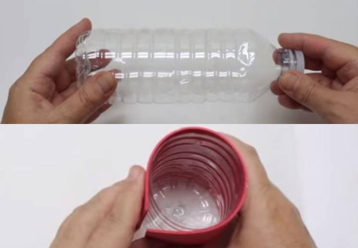 Как сделать Деда Мороза из бутылки пошаговая инструкция