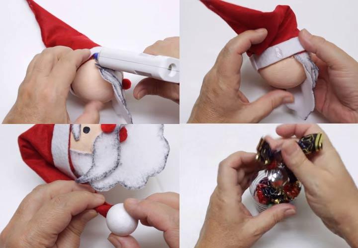 Как сделать Деда Мороза с конфетами внутри своими руками
