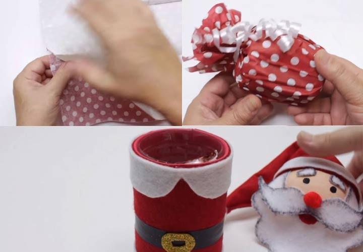 Как сделать Деда Мороза с конфетами внутри своими руками пошаговая инструкция