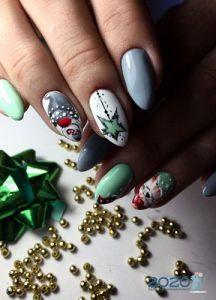 Шеллак - роспись ногтей на Новый Год 2020