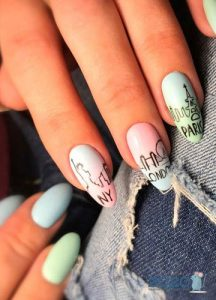 Шеллак - оригинальная роспись ногтей на Новый Год 2020
