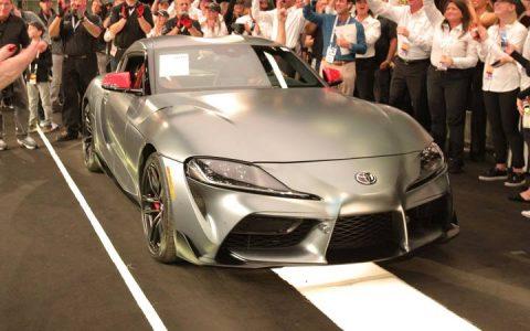 Первая Toyota Supra 2020 была выставлена на аукцион