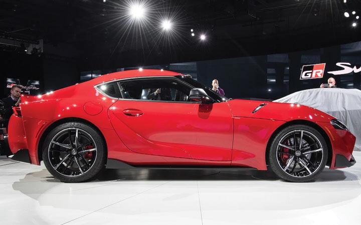 Габариты новой Toyota Supra 2020