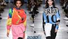 Блузка с принтом мода зимы 2019-2020