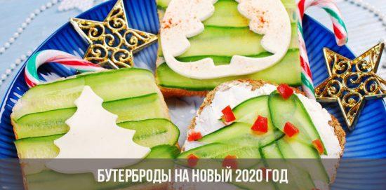Бутерброды на Новый 2020 год