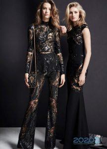 Черное новогоднее платье 2020
