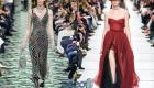 Вечерние платья с разрезом на Новый Год 2020