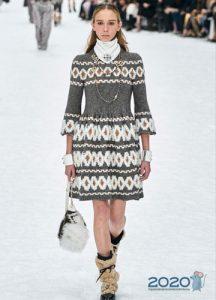 Вязаное платье от Шанель на Новый 2020 год