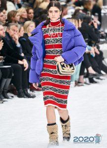вязаное новогоднее платье 2020 от Шанель