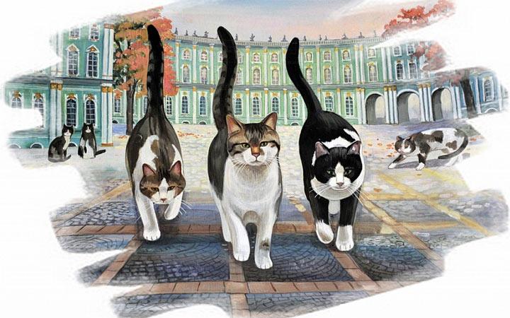 Эрмитажные коты история, жизнь животных, личный праздник в 2020 году