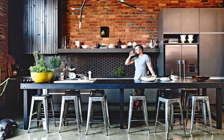 Кухня в стиле лофт - идеи интерьера на 2020 год
