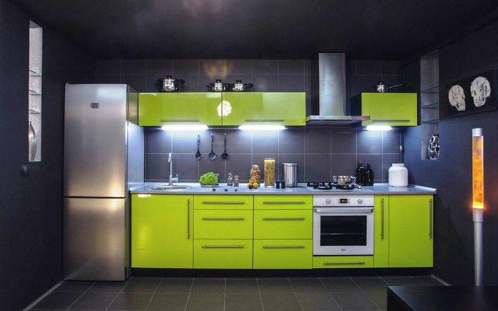 Линейное размещение кухонной мебели идеи дизайна на 2020 год