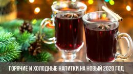 Горячие и холодные напитки на Новый 2020 год