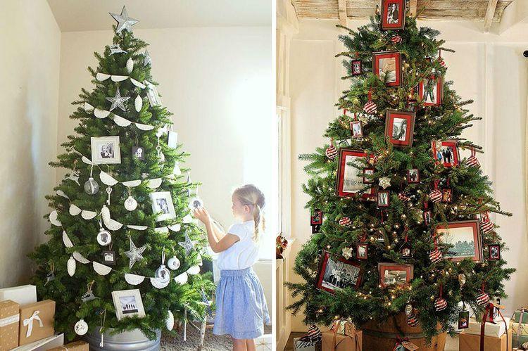 Новогодняя елка, декорированная фото